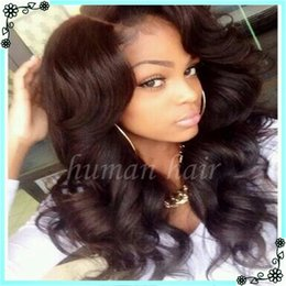 Wholesale Curly Hair Half Wigs Cheap - Cheap glueless full lace wigs for black women Brazillian swiss lace front human hair wigs with baby hair virgin human hair wigs