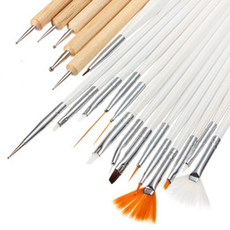 Wholesale Pro Nail Art Acrylic Painting Drawing Polish Brushes Dotting Pens With Leather Case Beauty DIY Tools Set