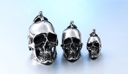stainless steel men punk skull pendant domineering personality accessories jewelry