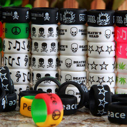 Wholesale Personalized silicone bracelet customized silicones band cheap rubber band vape band vapes ring vapor silicone ring bag dhl