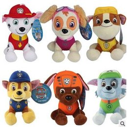 Wholesale 120pcs CCA3562 High Quality Styles cm Paw Dog Plush Toys Children Kids Plush Dolls Poppy Dog Stuffed Toy Fireman Sam Patrol Plush Toys