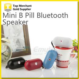 DHL 50PCS Bass B Small Pill Portable MINI Bluetooth Wireless Speaker Cannon MP3 Player MIC Hand-free TF Card USB for smart phone