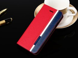 Wholesale Slimmest Iphone Folio Case - Ultra-Thin Color Matched Wallet Case Leather Folio Stand Book Slim Cover Protective Case for iPhone Case 4.7 5.5 inch Samsung Note4