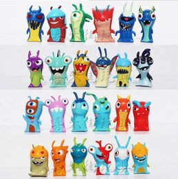 2015hot sale kids toys Slugterra PVC cartoon Action Figures kids toy figure Gifts Christmas gift 24 pieces set free shipping