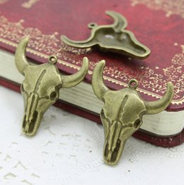 Wholesale Diy Jewelry Accessories Vintage Charms Pendant MM Antique Bronze Alloy Sheep Head AC