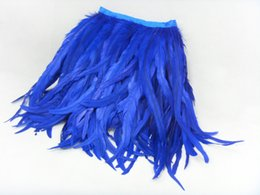 Wholesale 5m Rooster Feather Strip Black Blue Yellow Feather Strip Feathers Boa Wedding Feathers Prom Skirt Dress DIY