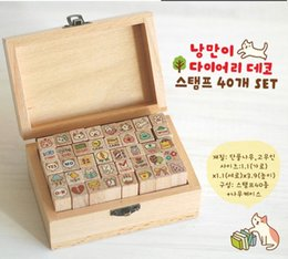 Wholesale Wooden Stamps creative stationery cute cat suit seals Cute cartoon wooden decoration seal Pic