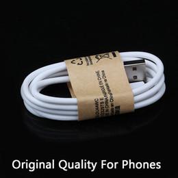 Compra Online Cargos cables iphone-Calidad original 1M 3 pies Micro V8 cables de cable de carga USB de carga del cargador de línea para Samsung Galaxy S4 S6 S7 Nota 4 5 6 7 HTC LG teléfono Android