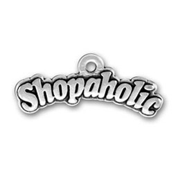30pcs shopaholic message love shopping charm for jewelry making