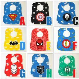 9 Style cartoons bibs new baby girls and boys cartoon Superhero Movie The Avengers waterproof bibs burp cloths B001
