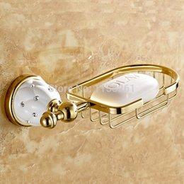 Wholesale Deal New Golden finish brass Soap basket soap dish soap holder bathroom accessories bathroom furniture toilet vanity