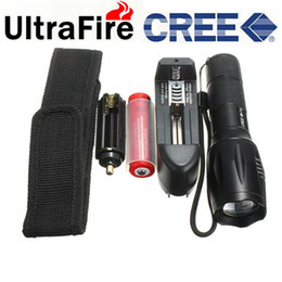 Wholesale Ultrafire Lumens Mode CREE XM L T6 LED Flashlight Zoom In Out Torch Battery Charger Holster