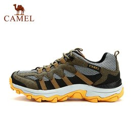 Wholesale-Brand Camel Men Sports Shoes Climbing Breathable Hiking Tennis Sneakers Mountaineering Antiskid Outdoor Shoes Authentic