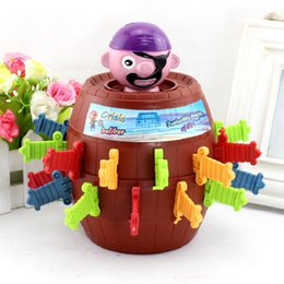 Wholesale Hot Sale Pirate Barrel Game Novelty Kids Children Funny Lucky Game Gadget Jokes Tricky