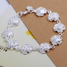 Hot sale best gift 925 silver Full Rose Bracelet DFMCH135,brand new fashion 925 sterling silver plated Chain link bracelets