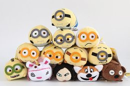 Wholesale Despicable Me Minions Plush Doll Screen Cleaner Plush Toys Backpack Hanger For Mobile Phone or Ipad