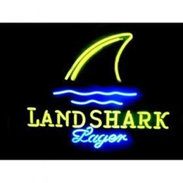 Wholesale NEW NEON SIGN LANDSHARK LAGER GRILL JIMMY BUFFETTS HANDICRAFT REAL GLASS TUBE BEER BAR LIGHT GAME ROOM SHOP x15 quot