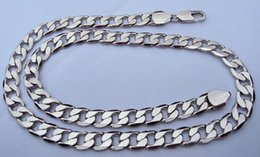 "POP Deluxe Men's 23.6 ""10mm 14k white solid gold curb link chain necklace 100% real gold, not solid not money."