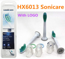 Newest packaging electric ultrasonic Replacement Heads For ProResults HX6013 toothbrush heads (3pcs=1pack) by DHL