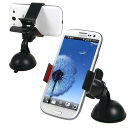 Wholesale Universal Swing Car Mount Holder Cradle Bracket Suction Cup Kit For Mobile Phone GPS PDA L01499