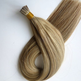 Pre bonded I Tip Brazilian human Hair Extensions 100g 100Strands 18 20 22 24inch M8&613 color Indian hair products
