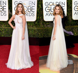 2016 Golden Globe Award Lily James Formal Celebrity Evening Dresses Tulle Floor Length Prom Party Gowns