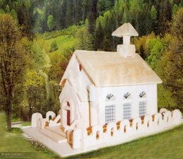 Wholesale-Educational Toys 3D Puzzle Wooden Model Small Church DIY