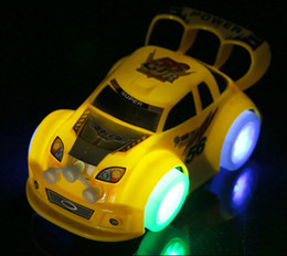 Wholesale Christmas Halloween Children Toy Boy Toy Car Toy Universal Music Luminous Automatic Steering Car Model Toys