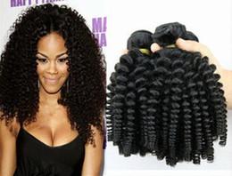 Aunty Funmi Virgin Hair Weaves,Romance Sprial Curly Human Hair Weft,Natural Black Aunty Fumi Hair Extension