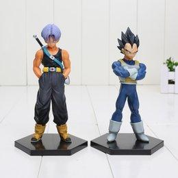 Wholesale 6 cm Anime DXF Dragon Ball Z Trunks Vegeta PVC Action Figure Toy Model Collection Dolls New