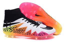 Wholesale American soccer cleats superflys men s football boots boy football shoes Hypervenom sports shoes voetbalschoenen men cleats pink white black