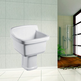 Wholesale Cody porcelain ceramic pedestal basin factory direct back wall basin I3 Series