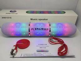 New JHW-V318 Bluetooth Speakers Portable Wireless Pulse Pills Led Light Flash Loud Speaker Bulit-in Mic Handsfree speakers Support FM USB