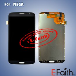 Wholesale For Samsung Galaxy Mega i9200 i9205 LCD Touch Screen with Digitizer Assembly Black amd White Color Free DHL Shipping