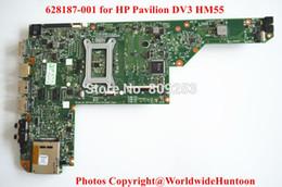 Ordinateur portable hp i7 à vendre-ordinateur portable carte mère gros-original pour carte mère HP DV3 682187-001 HM55 PGA989 DDR3 soutien I7 CPU Entièrement testé