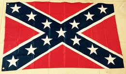 Wholesale Rebel flag Two Sides Printed Flag Confederate Rebel Civil War Flag National Polyester Flag x5FT