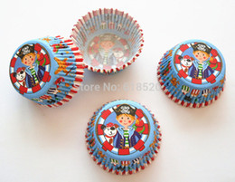 Wholesale Prince of Pirate Cupcake Liners Baking Cups Cake Mould Bakery Tools Party Decorations