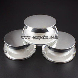 Wholesale 15ml pearl white acrylic cosmetic jar ml plastic screw top containers ml empty cospack jar for facial cream