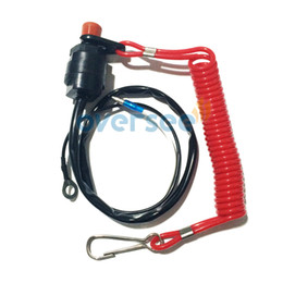 Oversee Boat Motor Kill Stop Switch & Safety Lanyard for fitting Yamaha   Honda   Tohatsu outboard motor parts ,6E9-82575-09