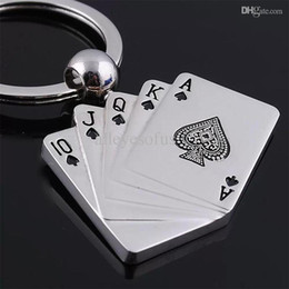 Wholesale-2015 Poker Key Ring Chain Playing Cards 10 J Q K A Alloy Key Chain Versatile Metal Cool Cheap Keychain H*MHM160#A2