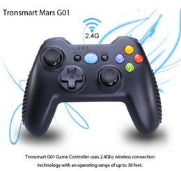 Wholesale Tronsmart Mars G01 GHz Wireless Gamepad for PlayStation PS3 Game Controller Joystick Android TV Box Phone MINI PC Windows Kindle Fire