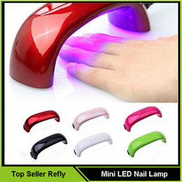 Wholesale Mini LED Nail Dryer Nail Dryers Nail Art Lamp UV Light for Nails W LED Light Curing Nail Dryer Machine VS diamond lamp