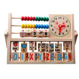 Wholesale Children Baby Kids Learning Developmental Versatile Flap Abacus Wooden Toys PTSP