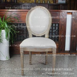 Wholesale black and white high quality paint gray linen chair chair factory direct