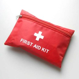 Wholesale Big discount Sets First Aid Kit For Outdoor Travel Sports Emergency Survival Indoor Or Car Treatment Pack Bag By DHL