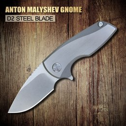 Wholesale 2016 newest XINZUO Anton Malyshev Gnome pocket FOLDING knife D2 stainless steel blade TC4 Titanium alloy handle