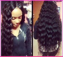 18 black hair en Ligne-Qualité parfaite haute densité hors noires ondes espagnol cheveux humains sans colle des perruques complètes pour les femmes noires