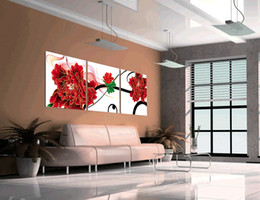 3 Pieces no frame free shipping Home decoration on Canvas Prints tulips music peony dance Sax Sexy beauty Chrysanthemum Cartoon flower