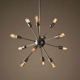 Wholesale 12 Lights American Vintage Industrial Pendant Light Satellite Style Restaurant Cafe Decor Haning Lamp E27 V