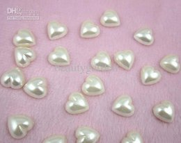 500pcs lot diy craft 12mm heart shaped pearl flatback wedding party gift favor decoration candy box jewelry accessories wa026